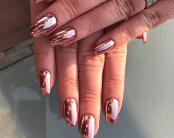 ROSE GOLD Chrome Mirror Powder Pigment for Nail art - 2017 Nail trend