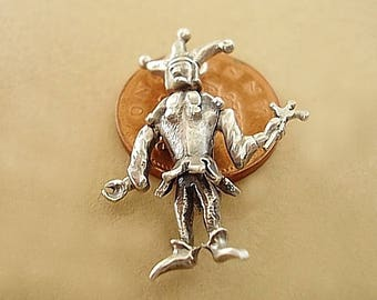 Sterling Silver Court Jester Charm