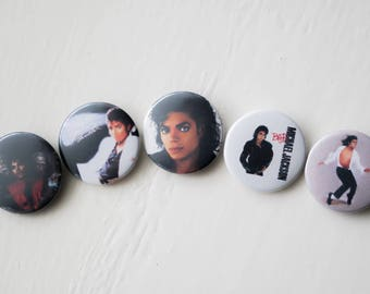 """Michael Jackson 1"""" Buttons - Pack of 5"""