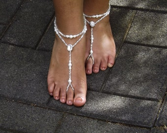 Barefoot Sandals Bridal Barefoot Sandals Foot Wedding Foot Jewelry Beach Wedding Barefoot Sandals Bridal Foot Jewelry