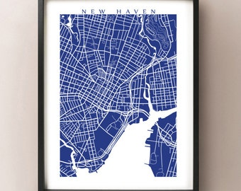 New Haven, CT Map Print