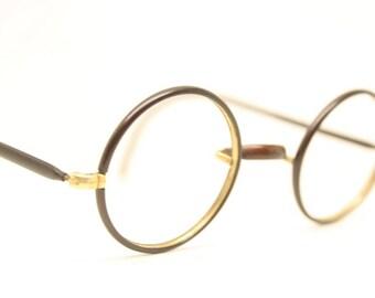 Vintage Zylo Windsor Style Round Eyeglasses