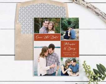 Photo Save the Date Printable - Photo Save the Date Magnet - Photo Save the Date Postcards - Save the Date Cards