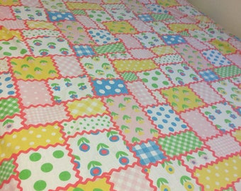 Vintage Full size sheets Fitted sheet set Retro sheets