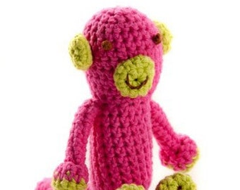 Crocheted Monkey Stuffed Animal