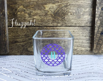 Personalized Candle Holder-Square