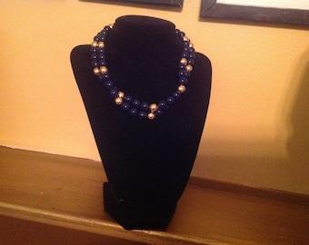 Vintage Blue and Gold Napier Necklace