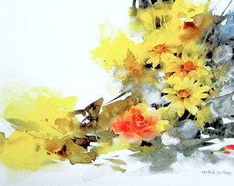 Roses and Daisies by Morten E Solberg