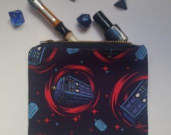 Doctor Who makeup bag, Doctor Who bag, Doctor Who pouch, purse