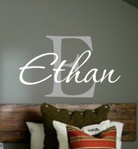 Name Decal Personalized Monogram Kids Wall Decals Boys - Monogram vinyl wall decals for boys