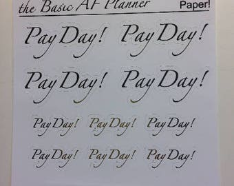 """FOILED """"Pay Day"""" Stickers 