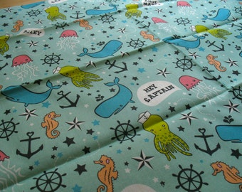 Aquatic / Ahoy Matey 17x21 Fat Quarter Cotton Fabric