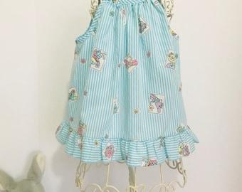 Vintage Toddler Novelty Print Top/Dress