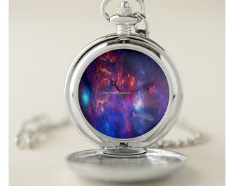 Core of the Milkyway Pocket Watch - Silver or Gold Cases Available!