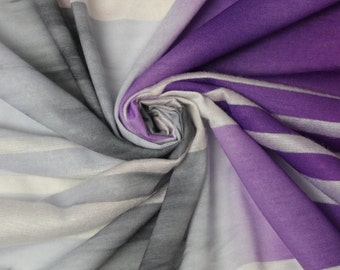 Purple Gray Ombre Stripe Jersey Knit Fabric Style 6745