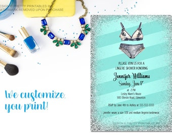 Lingerie shower invitation / printable lingerie shower invitation / lingerie party invite / lingerie bachelorette / lace lingerie invite