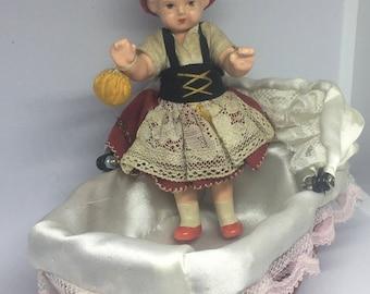 Antique German Bisque Little Girl circa 1930