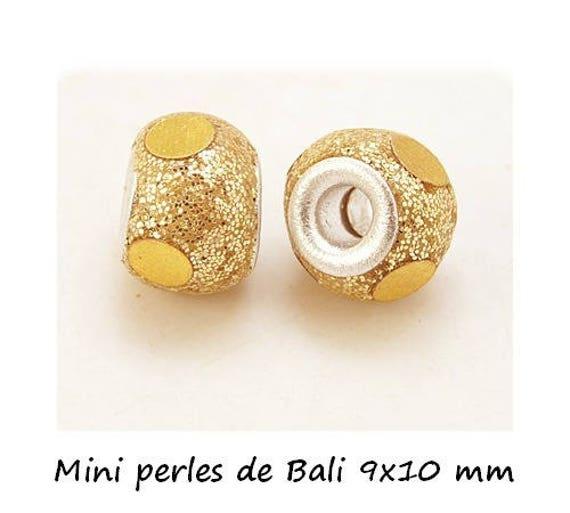 Mini Pearl Bali 9 x 10 mm ல் [Gold] x 1