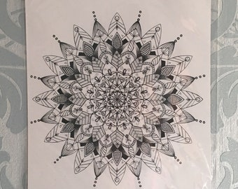 Black Mandala Art Print