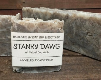 Stanky Dawg Handmade All Natural Hot Process Soap - Dog Shampoo - One Bar