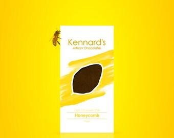 Kennard's Artisan Chocolate, Honeycomb Dark Chocolate Bar