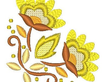 Jacobean Corners  ( 12 Machine Embroidery Designs from ATW )