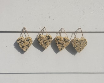 Heart Shaped Birdseed Ornaments, Party Favors, Shower or Wedding Favors, Rustic, Outdoor Wedding