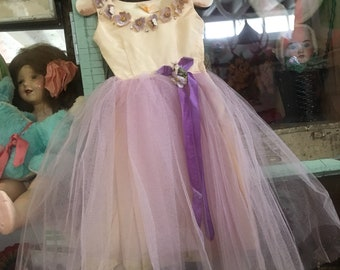 Just Some Serious Sweetness Here Vintage Tulle Party Dress For Doll Or Infant