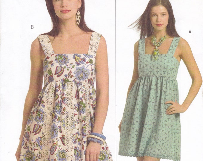 FREE US SHIP Butterick 5038 Sewing Pattern Babydoll Summer Dress Lace Trim Size 6 8 10 12 Bust 30.5 31.5 32.5 34  Factory Folded