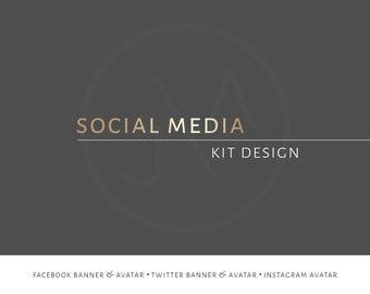 Social Media Kit, Custom Design, Small Business, Marketing Material, Personalised, Graphic Design, Facebook, Twitter, Instagram, Avatar