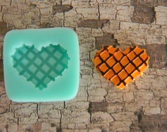 Silicone Flexible Mold - Heart Waffle