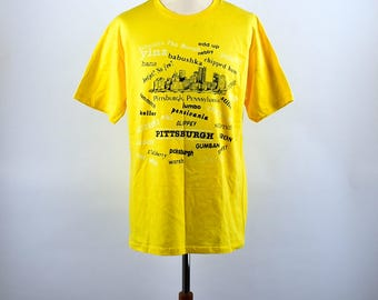 Pittsburghese - Funny Pittsburg, Pennsylvania T-Shirt, Size Large