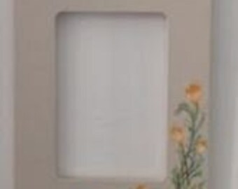 Painted Frame: Orange Day Lilies Accent