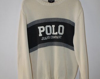 Polo Jeans by Ralph Lauren Sweater Vintage 90s Size L