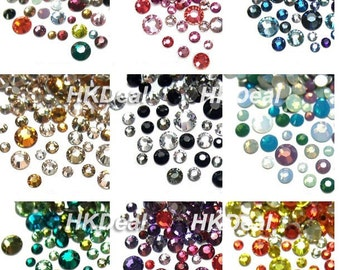 108pcs x Swarovski Crystal Mix Size & Color Rhinestone Flatback Nail Art Design [11 options]