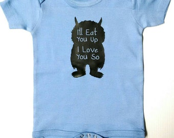 Baby Boy, Cute Where the Wild Things Are, Ill Eat You Up, Baby Boy bodysuit, Where the Wild Things Are, Baby Boy, Ill Eat you Up #11
