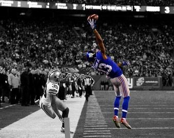 17x11 Odell Beckham Jr One Handed Catch