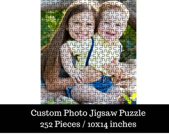 Custom Personalized Photo Jigsaw Puzzle - 252 Pieces / 10x14 inches / metal tin included
