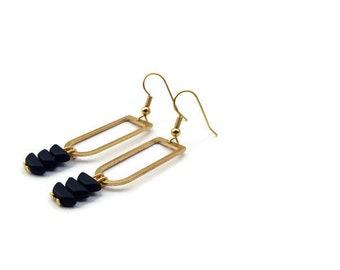 Shiprock black earrings.
