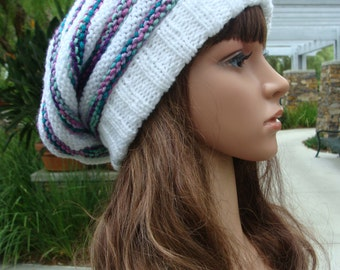 DIY - Knitting PATTERN #83: Beehive Knit Slouchy Hat Pattern, Size Teen/Adult - Instant Download PDF Digital Pattern