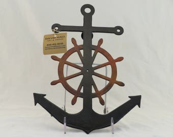 Black Ship Anchor / Wheel Trivet / Wall hanging