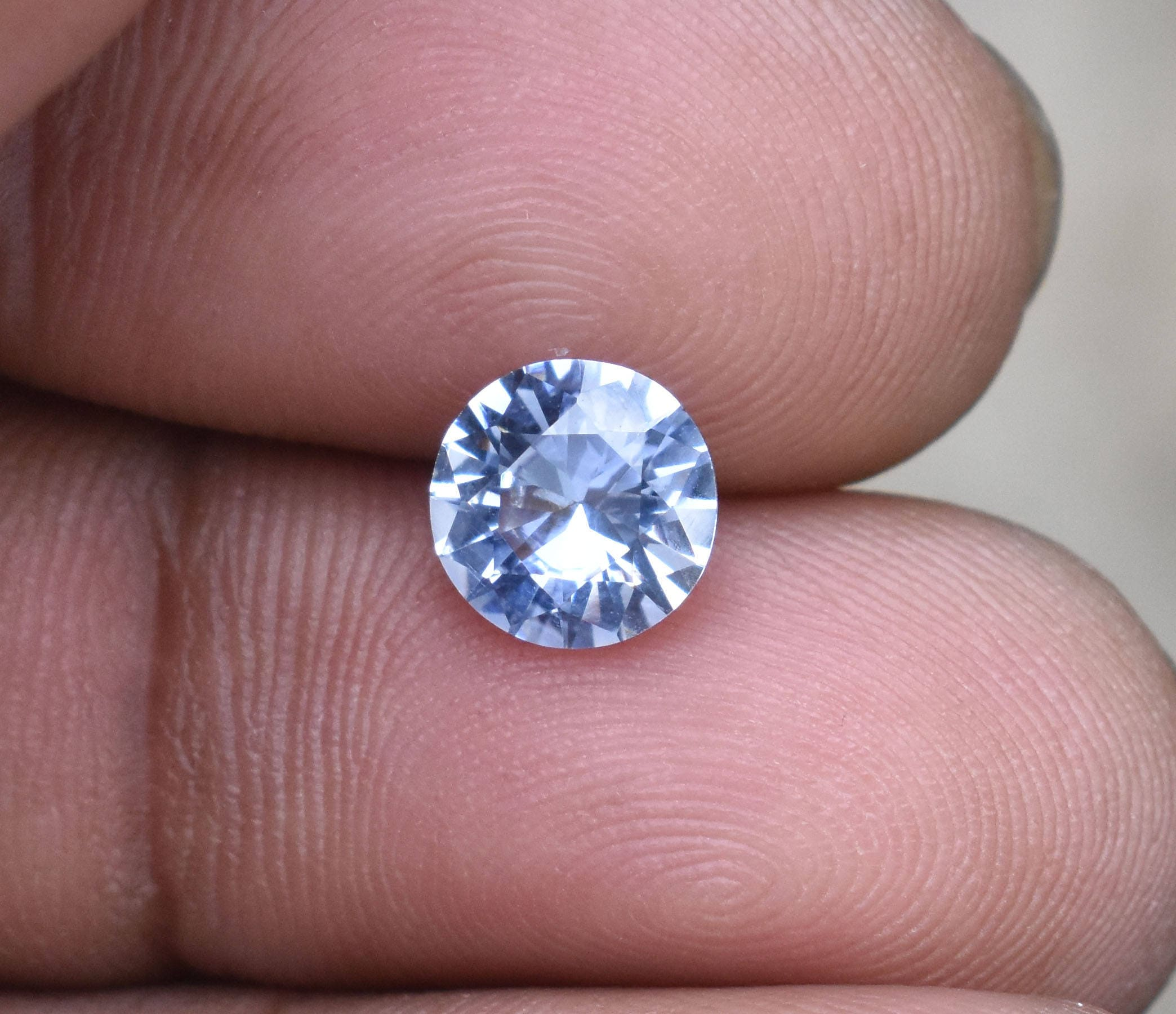 Loose Natural Unheated Certified White Sapphire 1.55 Ct VS