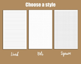 Printed Pages (Lined/Graph/Dots) ADDONS