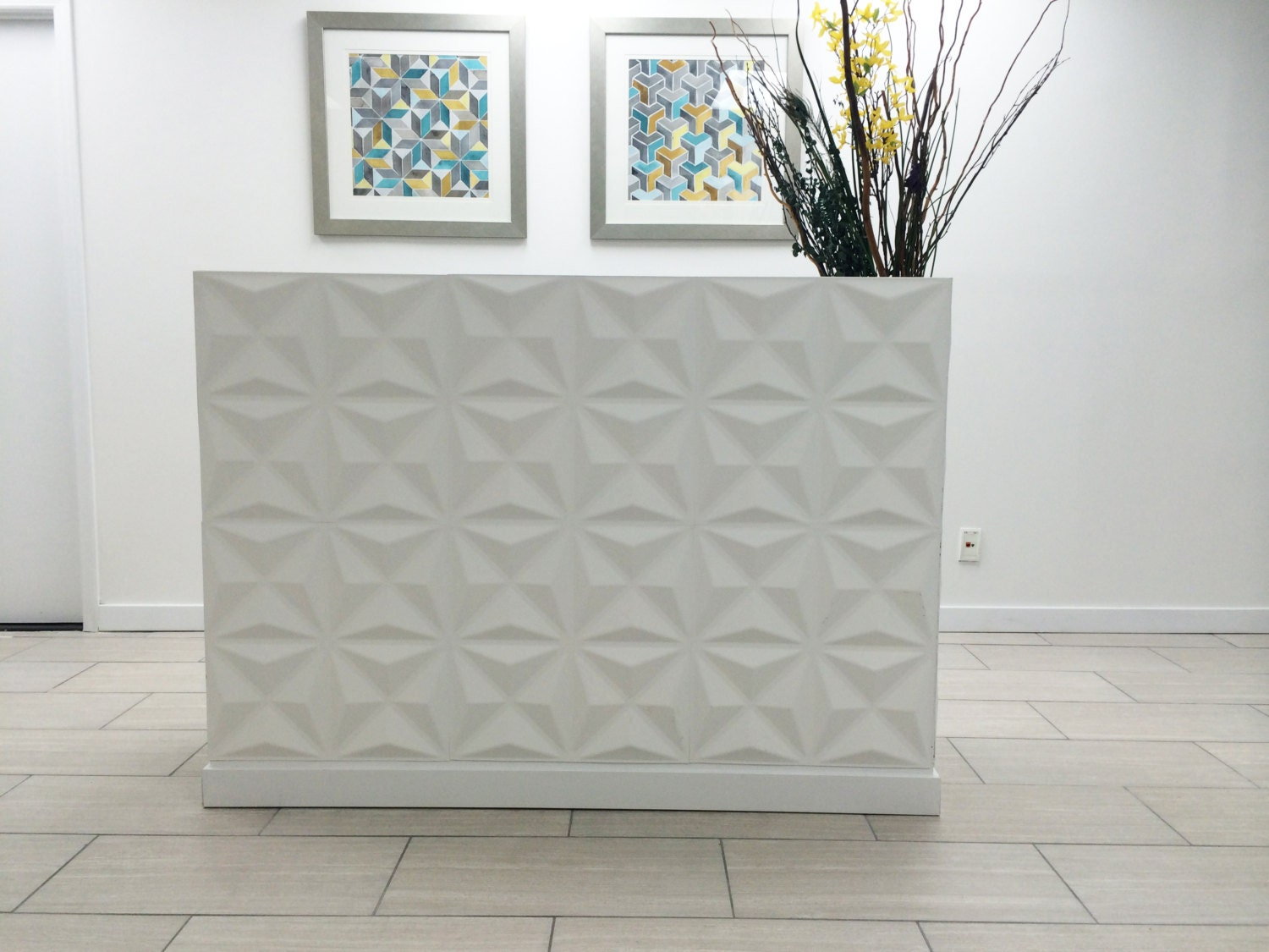 Reception desk white reception desk modern reception desk for Bancone reception ikea