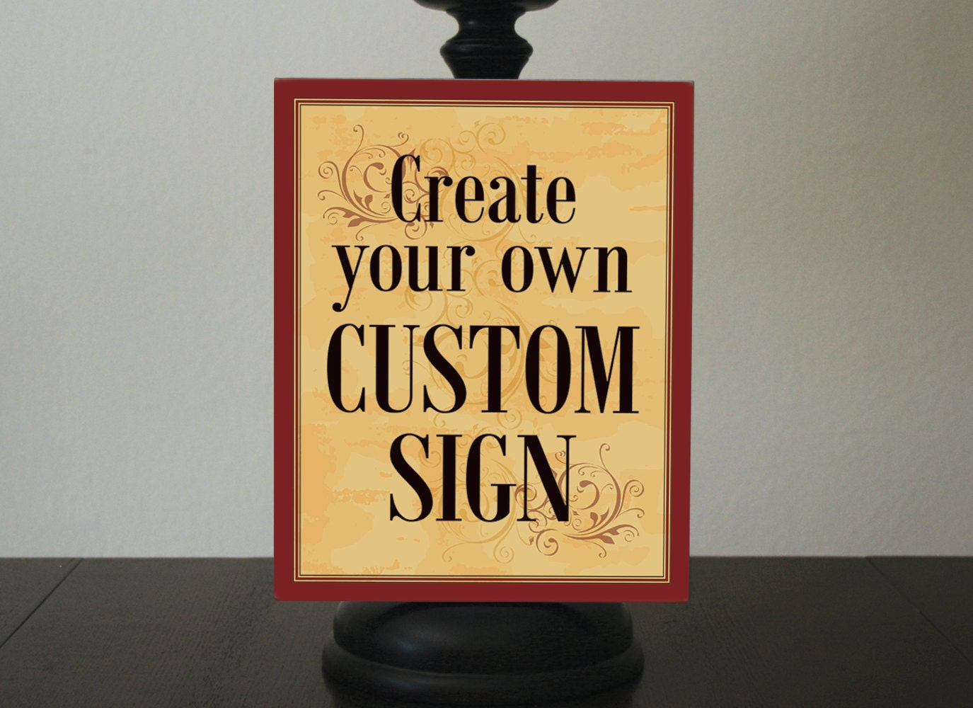 Dorable Custom Wall Decor Signs Composition - The Wall Art ...
