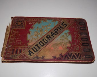 Antique 1890 Autograph Book