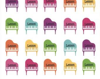 Piano Lesson/Recital Stickers || Planner Stickers