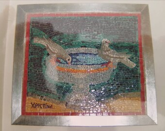 The Holy Communion. Original Mosaic, smalti & marble