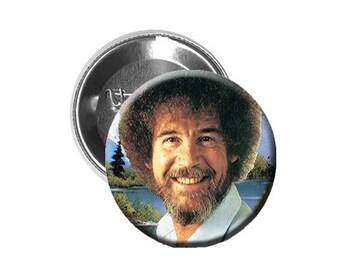 "Bob Ross - Pinback Button/Badge (1.25"")"