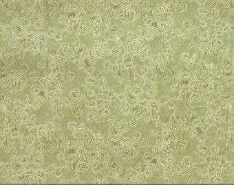 Davids Textiles Love blooms green 100% cotton